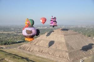 festival de globos aerostaticos en teotihuacan
