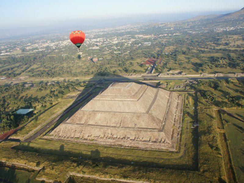 globos aerostaticos en teotihuacan 2016