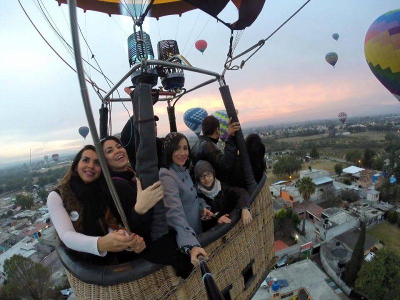 paseos familiar en globo aerostatico teotihuacan