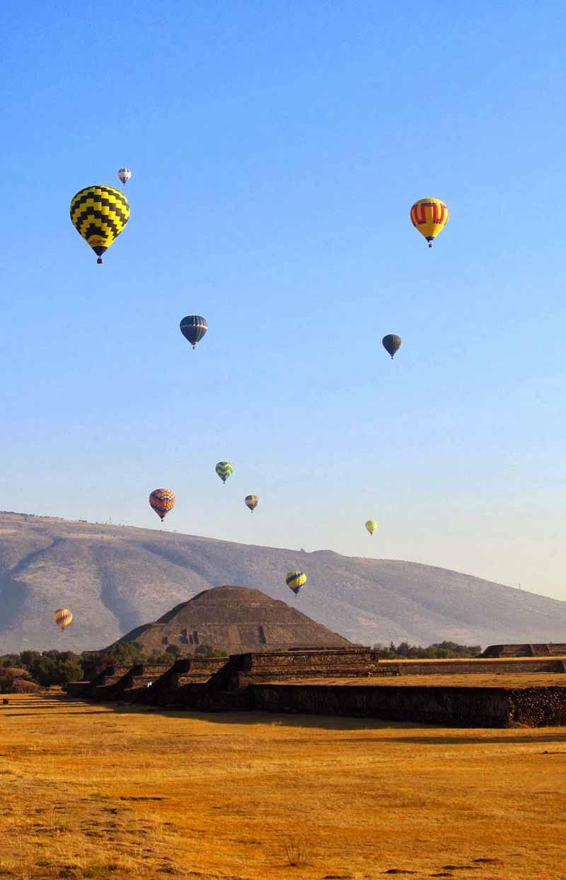 comprar un paseo en globo en Teotihuacán