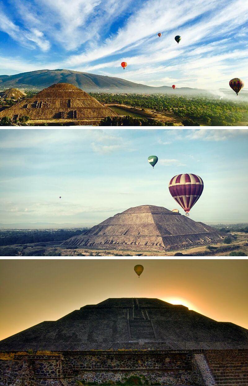 comprar un vuelo en globo en Teotihuacán
