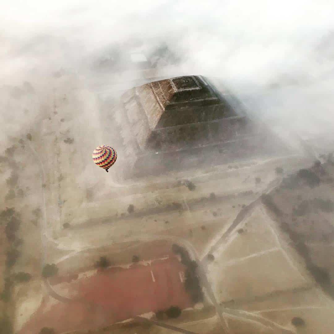 paseo en globo teotihuacan costo