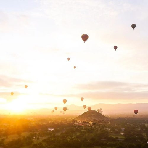 globos aerostaticos amanecer teotihuacan