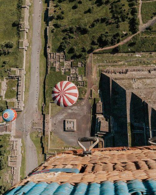 viaje en globo aerostático en teotihuacan compartido