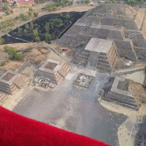 vista piramides de teotihuacan globo aerostatico