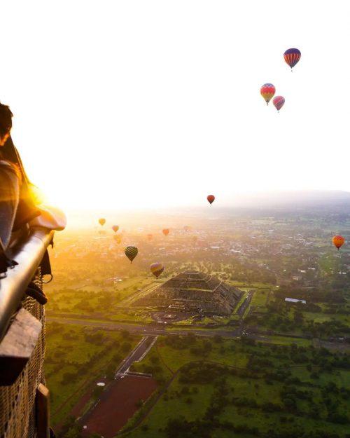 vuelos en globo piramides de teotihuacan